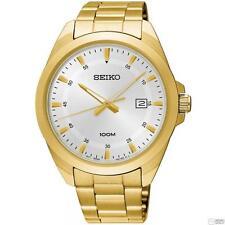 Seiko SUR212P1 Para Caballero Gold Tone 100m Análogo De Acero Inoxidable Fecha Reloj RRP £ 239