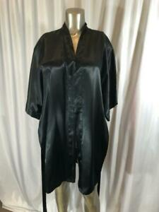 Frederick's of Hollywood Black Polyester Short Robe Size L # 031106