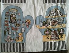 Cotton fabric to make oven glove mitten pot holder print vtg NOS antique shop