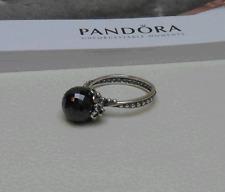 Pandora Ring Garden Odyssey schwarzer Spinell grauer Kristall Gr. 57 neu