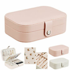 Portable Jewelry Box Organizer Leather Jewellery Ornaments Case Travel Storage