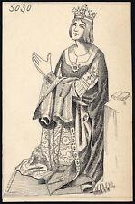 Antique Drawing-PORTRAIT-HISTORICAL FIGURE-KING-ITEM 5030-Gerard Claes-1900