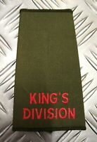Genuine British Army OD Green King's Division Plain Rank Slide / Epaulette