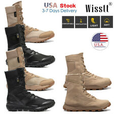 Mens Army Military Combat Boots Outdoor Tactical Work Shoes SWAT Hiking Ankle US