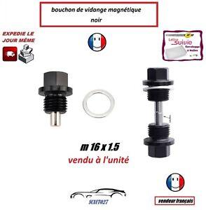 bouchon/ de vidange magnétique noir auto/moto M16x1.5