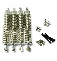L375 1/10 Scale Buggy Alloy Adjustable Shock Absorbers Dampers 75mm Silver x 4