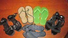 LOT of Women Sandals Flip Flops Shoes Sz 9 Miz Mooz J.Crew Havaianas Dress Barn