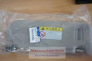 2006-2008 HYUNDAI SONATA SUN VISOR DRIVER SIDE BEIGE GENUINE (Trim code QD)
