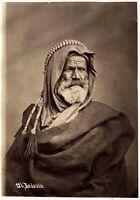 Egypt n. 124 Bedouin + n. 142 Arab veiled woman Two orig photos front/back 1870c