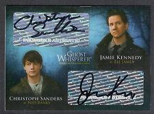 GHOST WHISPERER 1 & 2 AUTOGRAPH CARD #GA-6 JAMIE KENNEDY & CHRISTOPH SANDERS