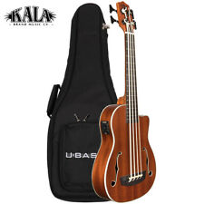 NEW Kala U-BASS Journeyman Acoustic Electric Ukulele with F-Holes Satin Finish