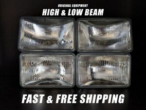 OE Front Headlight Bulb for GMC C3500 1982-1986 High & Low Beam Set of 4