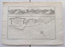 VOYAGE ANSON 1754 BAYE DE CUMBERLAND ISLE DE JUAN FERNANDEZ ( CHILI )