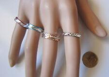 Lote 4 anillos aluminio colores nº 9 ó 18 mm diámetro medio bisutería r-34