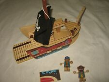 Holz Spiel Piratenschiff