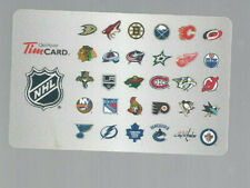 TIM HORTON'S TEAM LOGOS NHL COLLECTABLE GIFT CARD
