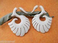 Handmade Wood Boho Wooden Fake Gauge Earring Combo 17