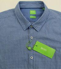 Hugo Boss Blue Plaid Shirt LS Mens 2XL XXL C-Bia 50369841 423 Slim Fit
