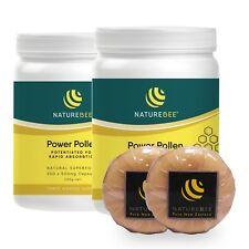 NatureBee Potentiated Power Pollen (2 x 200 caps) Partner Pack Free 2 Soaps