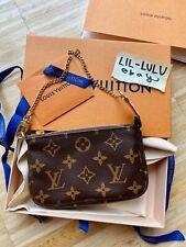 Louis Vuitton Pochette Mini Monogram Canvas Neu mit Box Handtasche 100% Original