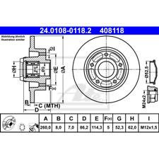 Bremsscheibe (2 Stück) - ATE 24.0108-0118.2