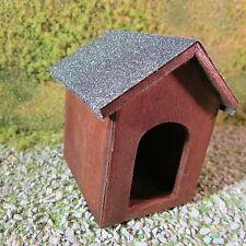 DOG Kennel ~ ~ in legno Casa Bambole Giardino Miniatura ~ 1 / 12th scale