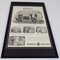 1955 General Electric Light Bulbs Framed 11x17 ORIGINAL Advertising Poster