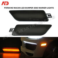 Smoked LED Side Marker Light For Porsche Macan 2014-2020 Bumper Marker Lamp 2X