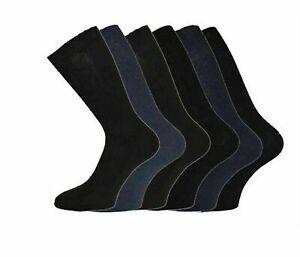 New Mens 100% Pure Cotton Comfy Gentle Soft Non Elastic Socks Loose UK Size 6-11