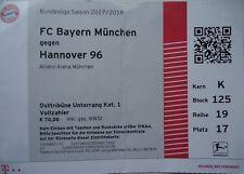 TICKET BL 2017/18 FC Bayern München - Hannover 96
