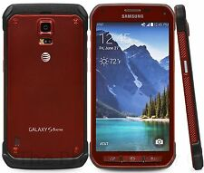 Samsung Galaxy S5 Active SM-G870A  4G LTE 16GB Ruby Red (Unlocked) Smartphone FR