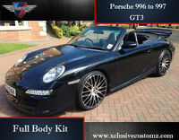 Porsche 911 996 to 997 GT3 Full Body Kit Conversion