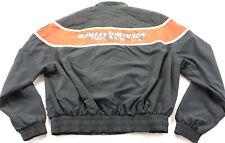 vintage USA harley davidson racing jacket XL 2XL nylon black orange tan bar