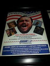 Lucciano Pavarotti For President Rare Original Promo Poster Ad Framed!
