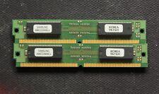 Lot of 2x16MB + EDO memory 72pin - EDO - 32MB - 60ns - Gold - TESTED