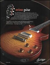 The Bill Collings 360 electric guitar 2009 ad 8 x 11 advertisement print 1a