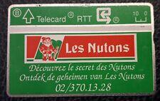 BELGIQUE 10 UNITS PRIVATE PHONECARD - LES NUTONS NEUVE