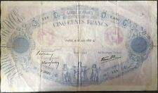500 FRANCS BLEU ET ROSE - 30.6.1938 - Billet de banque français (B)
