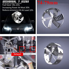 3 Generation 74-79mm Car Storm Power Machinery Supercharger Turbo Fuel Gas Saver