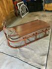 Vintage+Tell+City+Chair+Company+Sleigh+Coffee+Table