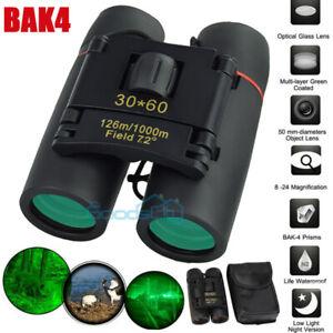 30x60 Zoom Binoculars Day/Night Vision BAK4 HD Focus High Power Waterproof+Bag