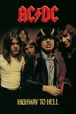 """AC/DC POSTER """"HIGHWAY TO HELL"""" LICENSED """"ANGUS YOUNG, MALCOLM"""" BRAND NEW"""