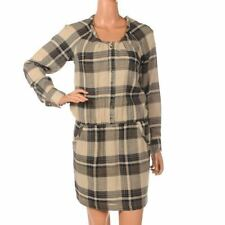 Woolen Long Sleeve Regular Dresses Midi
