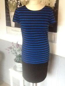 MICHAEL KORS DRESS  STRIPED BODYCON PENCIL WIGGLE SM 10-12 UK