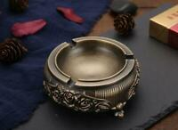 Small Metal Portable Ashtray Retro Style Home Ashtray Bronze Color Ashtray New