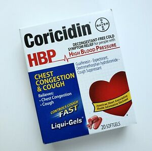 Coricidin HBP Decongestant-Free Cough & Cold Relief Liqui-Gels Fast-Acting 20 ct
