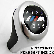 BMW M SPORT GEAR KNOB SHIFT 6 SPEED 3 SERIES E36 E39 E46 E90 E91 Z3 LEATHER