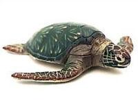 RARE Kaiyodo Takara Choco Q ChocoQ Animatales Green Sea Turtle Figure