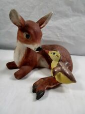 "Franklin Mint "" Friends "" Fawn & Bird Figurine"