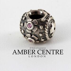 PANDORA Genuine 925 ALE Silver Pink Zirconia Decorative Charm 790390PCZ RRP£65!!